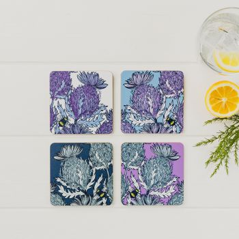 Small image of Thistle Coasters (Set Of 4)