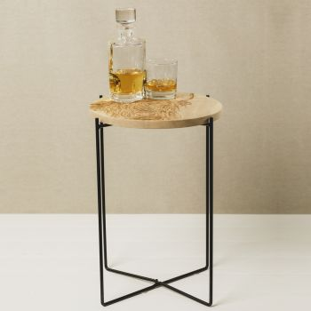 Buy Highland Cow Round Sycamore Occasional Table