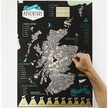 Small image of Adventure Scotland Scratch-It-Map In Tube