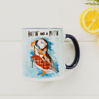 Small image of Huffin And A Puffin Mug