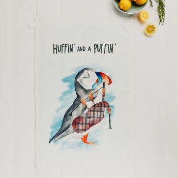 Small image of Huffin And A Puffin Tea Towel