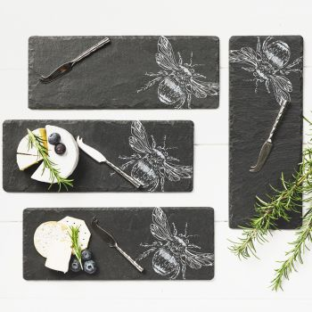 Product Image 4 Mini Bee Cheese Board & Knife Set at JustSlate