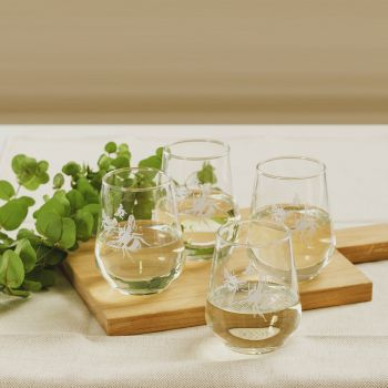 Main image of Set of 4 Bee Stemless Glasses
