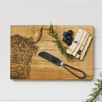 Highland Cow Cheese Board & Knife Set