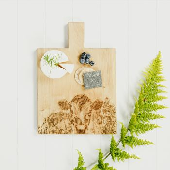Small image of Country Friends Medium Oak Serving Paddle