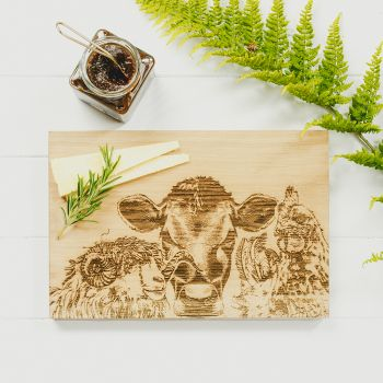 Small image of Country Friends Oak Serving Board 30cm