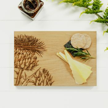 Contemporary Thistle Serving Board 30cm