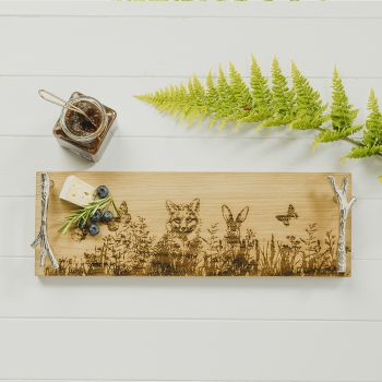 Small image of Forest Friends Oak Serving Tray
