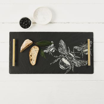 Large Bee Slate Serving Tray