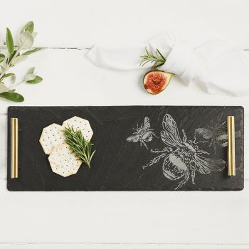 Main image of Small Bee Slate Serving Tray