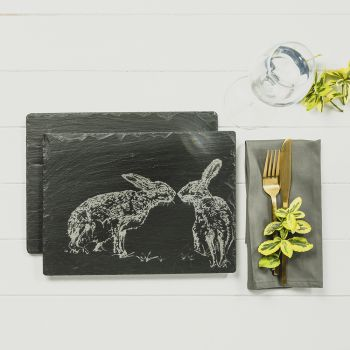 Main image of 2 Kissing Hares Place Mats