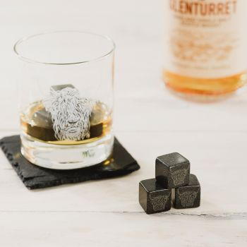 Small image of Set of 6 Highland Cow Engraved Whisky Stones