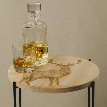 Buy Monarch Stag Round Sycamore Occasional Table