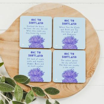 Small image of Ode To Scotland Coasters (Set Of 4)