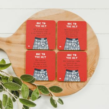 Small image of Ode To The Kilt Coasters (Set Of 4)