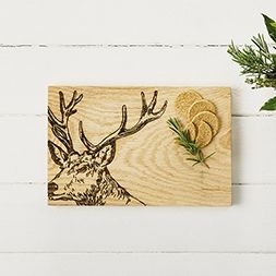 Oak Stag Serving Board 30cm by Scottish Made