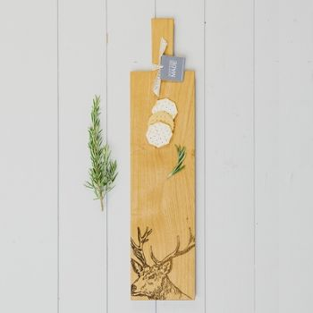 Long Stag Oak Serving Paddle